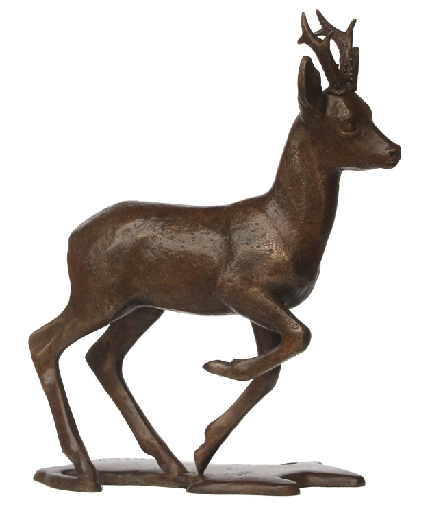 sculpture en bronze chevreuil deer. Black Bedroom Furniture Sets. Home Design Ideas